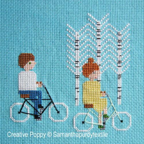 Samantha Purdy - Ballade à vélo (grille de broderie point de croix)