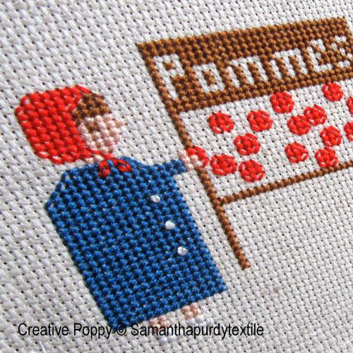 Samantha Purdy - Pommes, zoom 1 (grille de broderie point de croix)