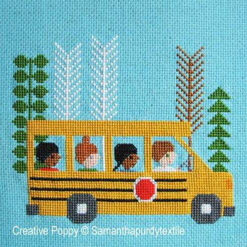 Samantha Purdy - En route pour l'école (grille de broderie point de croix)