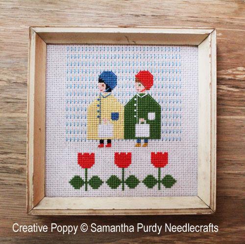 Imperméables, grille de broderie, création Samantha Purdy