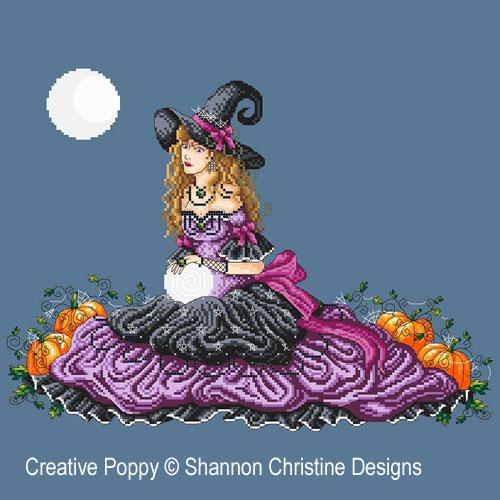 Luna, grille de broderie, création Shannon Christine Wasilieff