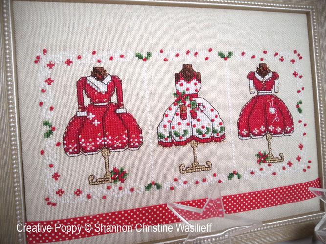 Les tenues de fête de Mme Noël, grille de broderie, création Shannon Christine Wasilieff