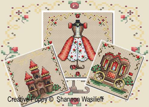 Les accessoires essentiels d'une princesse, grille de broderie, création Shannon Christine Wasilieff