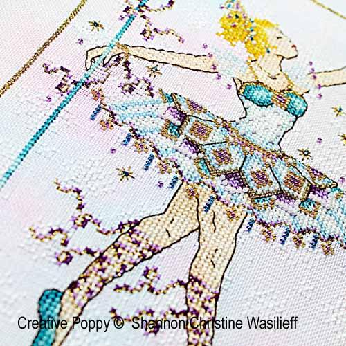 La reine des neiges broderie point de croix, création Shannon Christine Wasilieff, zoom3