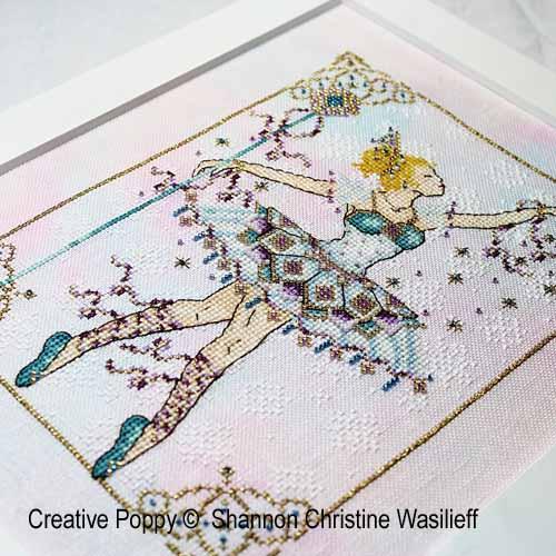 La reine des neiges broderie point de croix, création Shannon Christine Wasilieff, zoom1