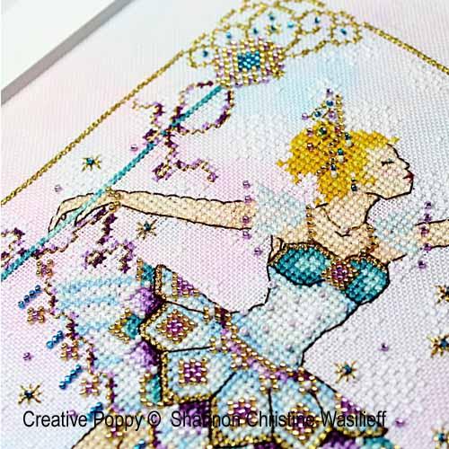 La reine des neiges, grille de broderie, création Shannon Christine Wasilieff