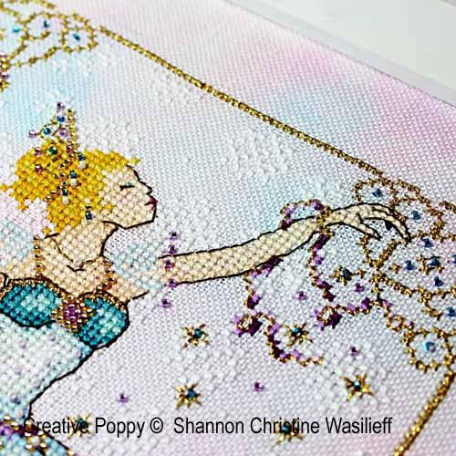 La reine des neiges broderie point de croix, création Shannon Christine Wasilieff, zoom2