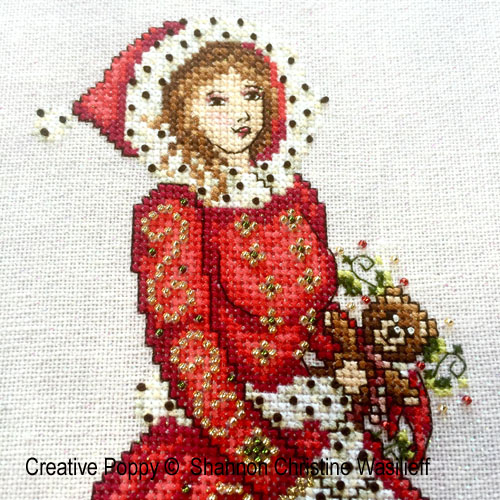 Lady victorienne, grille de broderie, création Shannon Christine Wasilieff