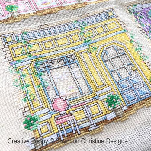 Devantures de boutiques broderie point de croix, création Shannon Christine Wasilieff, zoom2