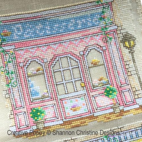 Devantures de boutiques broderie point de croix, création Shannon Christine Wasilieff, zoom3