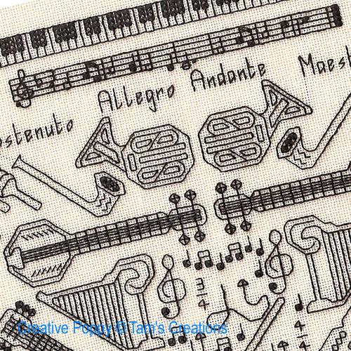 Modèles à broder sur le thème la musique et les arts