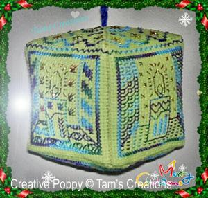 Lanterne de Noël (Ornement), grille de broderie, création Tams Creations