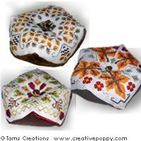 Biscornus d'automne (3 modèles) - grille point de croix - Tam's Creations