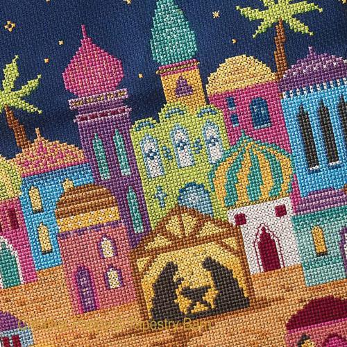 Bethlehem (crèche de Noël), grille de broderie, création Tapestry Barn