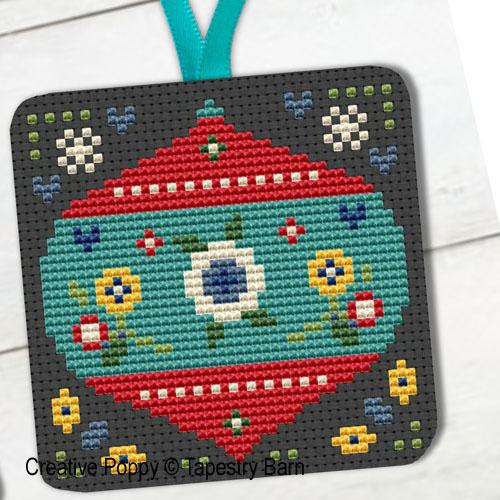 Décorations pour les fêtes, grille de broderie, création Tapestry Barn