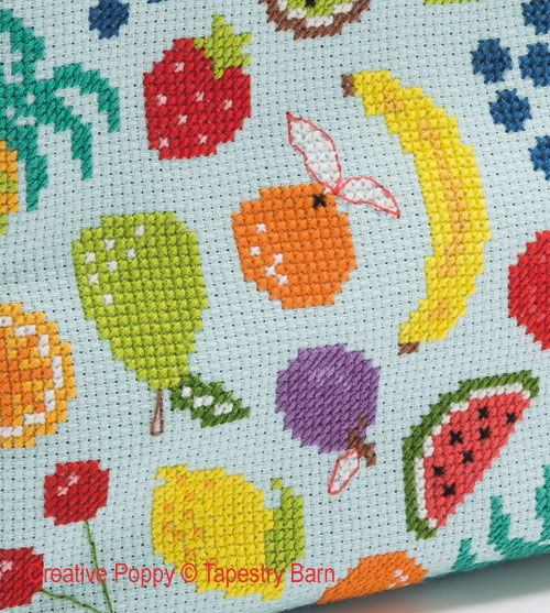 Lunch Bag Fruity, grille de broderie, création Tapestry Barn
