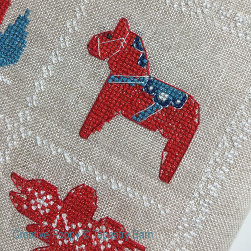 Marquoir Noël Scandinave, grille de broderie, création Tapestry Barn