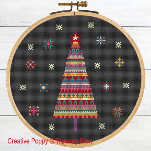 Tapestry Barn - Sapin de Noël  Joie et lumière (grille de broderie point de croix)