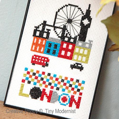 Londres, grille de broderie, création Tiny Modernist