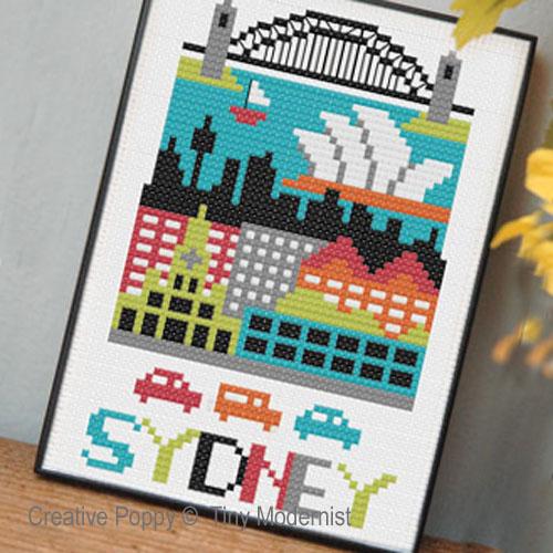 Sydney, grille de broderie, création Tiny Modernist