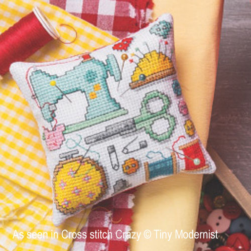 Tiny Modernist - La boite à couture, zoom 1 (grille de broderie point de croix)