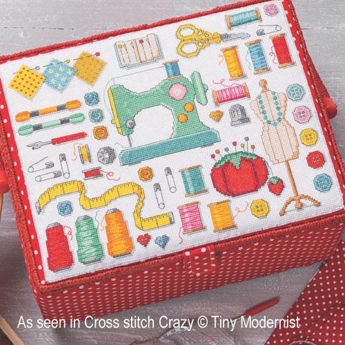 La boite à couture, grille de broderie, création Tiny Modernist