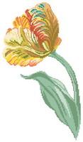 modèles de broderies avec des tulipes